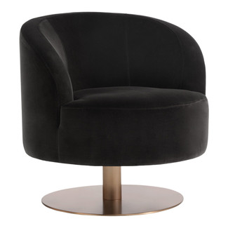 Peggy Swivel Club Chair - Shale Grey