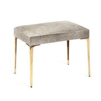 Stiletto Hide Stool - Brass