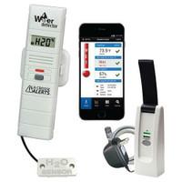 La Crosse Add-on Temperature and Humidity Sensor w/ 6 ft Water Detection Sensor