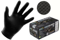 Growers Edge Black Powder Free Diamond Textured Nitrile Gloves 6 mil - X-Large Box