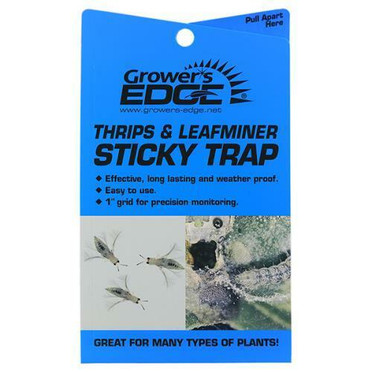 Growers Edge Thrips and Leafminer Sticky Trap 5/Pack Cs
