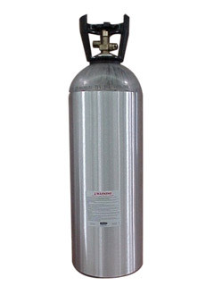 Active Air 20LB C02 CYLINDER W/ 320 VALVE and BLACK CCO2