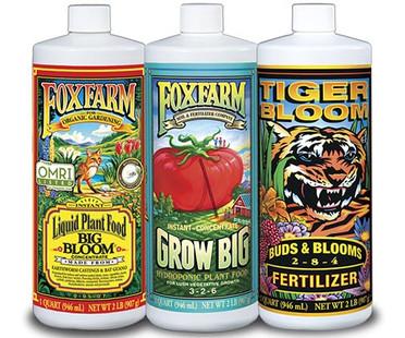 FoxFarm Nutrient Trio-Hydro Formula, 3 - 1 qt bottles FX14050