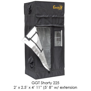 Gorilla Grow Tent 2x2.5 Gorilla Grow Tent SHORTY w/ 9 Extension K GGTSH22
