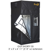 Gorilla Grow Tent 3x3 Gorilla Grow Tent SHORTY w/ 9 Extension Kit GGTSH33
