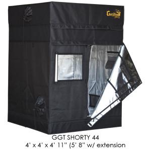Gorilla Grow Tent 4x4 Gorilla Grow Tent SHORTY w/ 9 Extension Kit GGTSH44