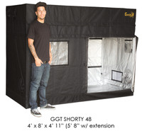 Gorilla Grow Tent 4x8 Gorilla Grow Tent SHORTY w/ 9 Extension Kit GGTSH48