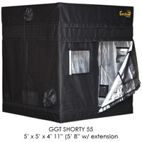 Gorilla Grow Tent 5x5 Gorilla Grow Tent SHORTY w/ 9 Extension Kit GGTSH55
