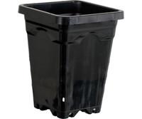 Active Aqua 5x5 Square Black Pot 7 Tall, 100 per case HG5X5SB