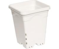 Active Aqua 7x7 Square White Pot, 9 Tall, 50 per case HG7X7SW