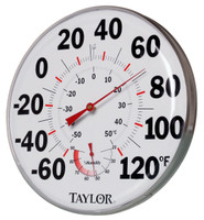 Taylor Precision Products Temperature/Humidity Gauge HGTHG
