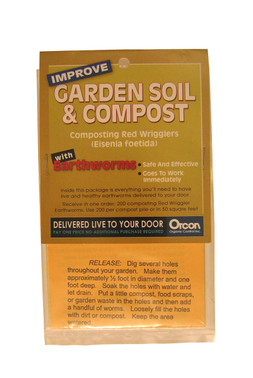Orcon Earthworms Mail-Back, pack of 5 OREW