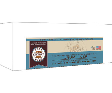 True Liberty Bags 55 Gallon Drum Liners 36 x 48 - 25 Pack TLB55DL25