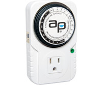 Autopilot AP Analog Grounded Timer, 1875W, 15A, 15Mins On/Off, 24Hr TM01015