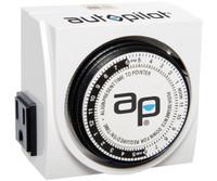 Autopilot AP Dual-Outlet Analog Timer, 1875W, 15A, 15Mins On/Off, 24Hr TM01015D