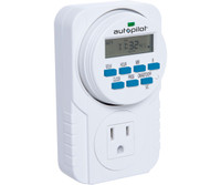 Autopilot 7-Day Grounded Digital Programmable Timer TM01715