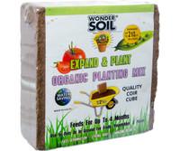 Wonder Soil Expand and Plant Organic Coir Cube 4/cs WS10020