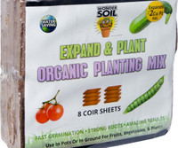 Wonder Soil Expand and Plant Organic Coir Sheet, pack of 8 4/cs WS20040