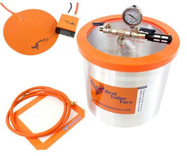 Best Value Vacs 3 Gallon Vacuum Degassing Chamber with Heat Pad BVVDCHP3