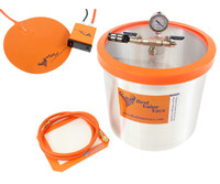 Best Value Vacs 5 Gallon Vacuum Degassing Chamber with Heat Pad BVVDCHP5