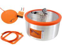Best Value Vacs 7 Gallon Vacuum Degassing Chamber with Heat Pad BVVDCHP7