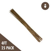 4 Natural Bamboo Stakes 25-pack