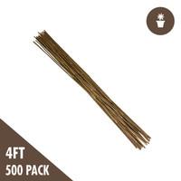 4 Natural Bamboo Stakes Bulk 500/bale