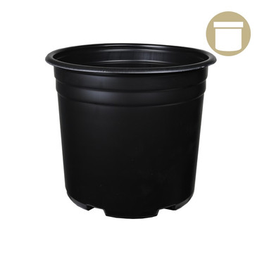 5 Gal Squat Thermoformed Plastic Pot
