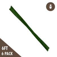 6 Green Bamboo Stakes Heavy Duty 6-pack