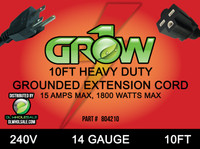 Grow1 240V Extension Cord 14 Gauge 10