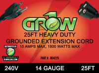 Grow1 240V Extension Cord 14 Gauge 25