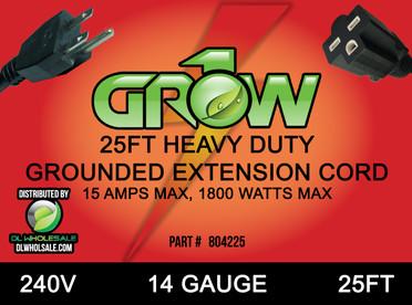 Grow1 240V Extension Cord 14 Gauge 25