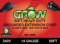 Grow1 240V Extension Cord 14 Gauge 50