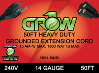 Grow1 240V Extension Cord 14 Gauge 50