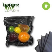 NatureVAC 15x20 Precut Vacuum Seal Bags Black/Clear - 50pack