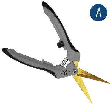 Piranha Pruner Trimming Scissors - Straight Titanium Blade