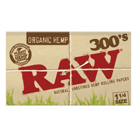 RAW ORGANIC HEMP 1-1/4 300 BLOCK 40/BOX