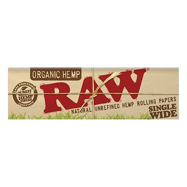 RAW ORGANIC HEMP SINGLE WIDE 25/BOX