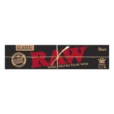 RAW BLACK KING SIZE SLIM BOX/50