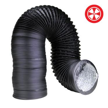 6 Light Proof Black Ducting