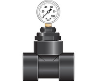 Dosatron Pressure Gauge with 1.5in Hook Up DSPGW1.5HY