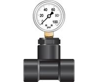 Dosatron Pressure Gauge with 3/4in Hook Up DSPGW34HU