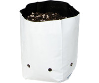 Hydrofarm Grow Bag, White/Black 1/2 gal, 34 packs of 30 1020 HGBW0.5GAL