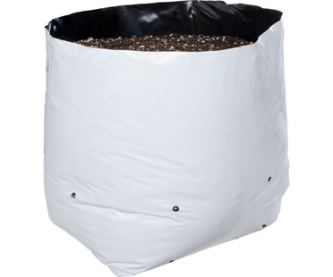 Hydrofarm Grow Bag, White/Black 10 gal, 20 packs of 10 200 HGBW10GAL