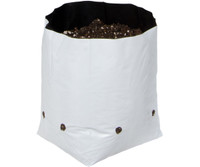 Hydrofarm Grow Bag, White/Black 1 gal, 20 packs of 25 500 HGBW1GAL