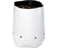 Hydrofarm Grow Bag, White/Black 2 gal, 20 packs of 25 500 HGBW2GAL