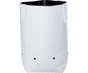Hydrofarm Grow Bag, White/Black 3 gal, 20 packs of 25 500 HGBW3GAL