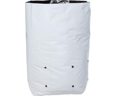 Hydrofarm Grow Bag, White/Black 7 gal, 16 packs of 25 400 HGBW7GAL