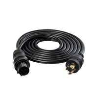 IL 277V Power Cord Wieland Female to Male NEMA L7-15 Twist Lock/DE and CMH Fixtures/15/4.5m