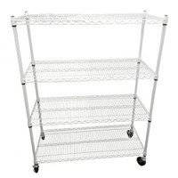 Dealzer Wire Rack 48x20x60 4 Tier w/Casters